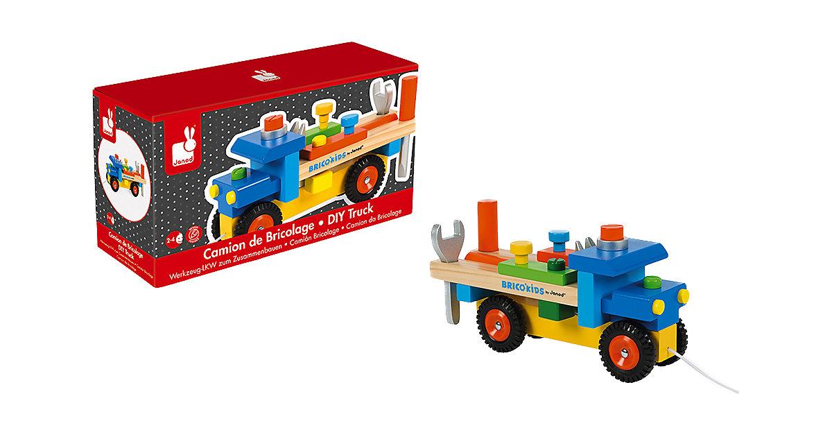 Werkzeug-LKW zum Zusammenbauen (Holz) bunt
