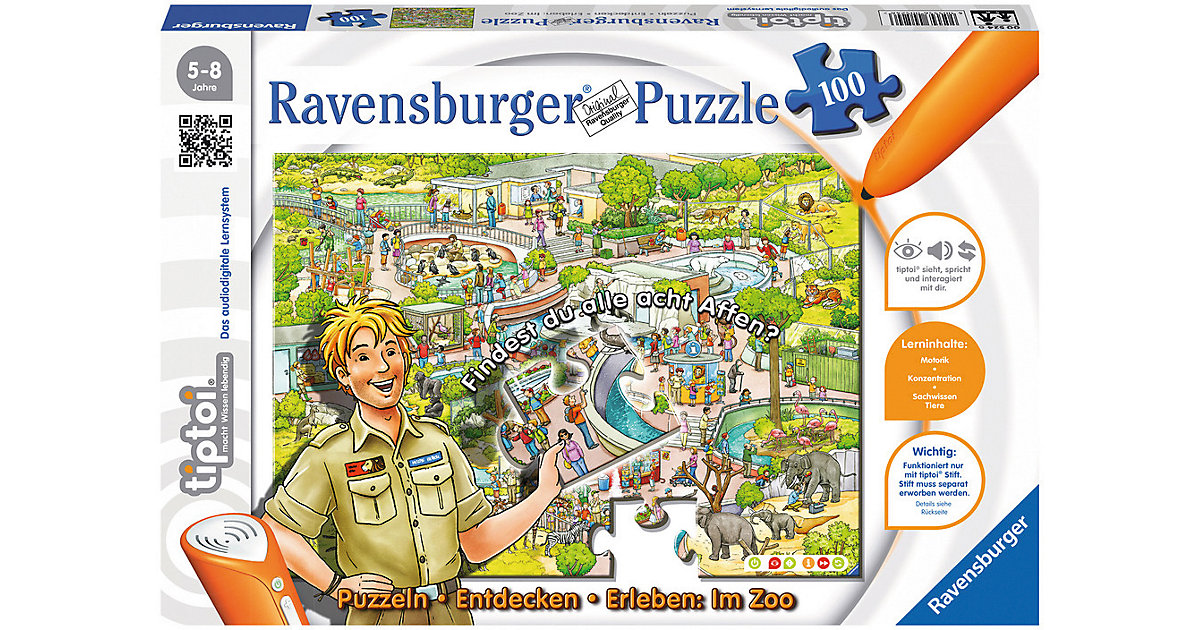 tiptoi® Puzzeln, Entdecken, Erleben: Im Zoo