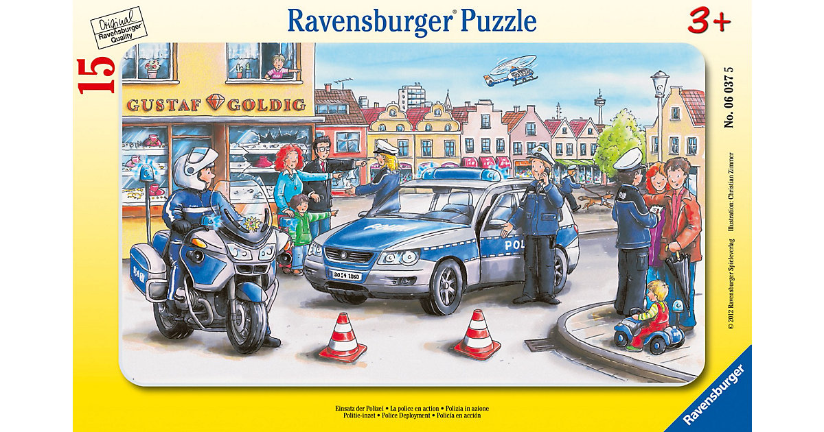 Rahmenpuzzle Einsatz der Polizei 15 Teile