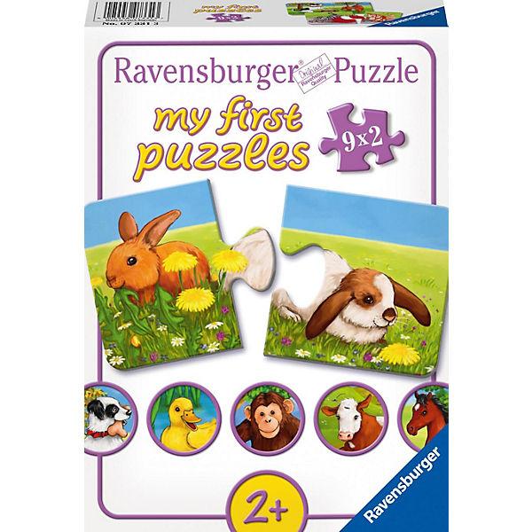 My first Puzzle Liebenswerte Tiere 9x2 Teile, Ravensburger