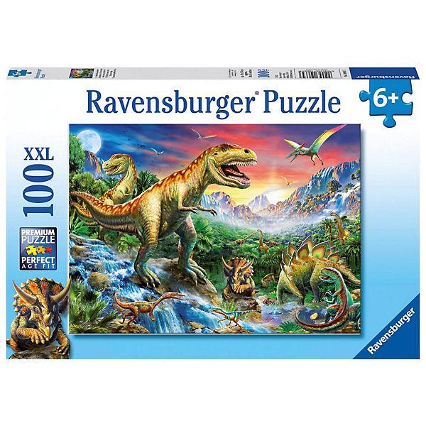 Puzzle Bei den Dinosauriern 100 Teile, Ravensburger