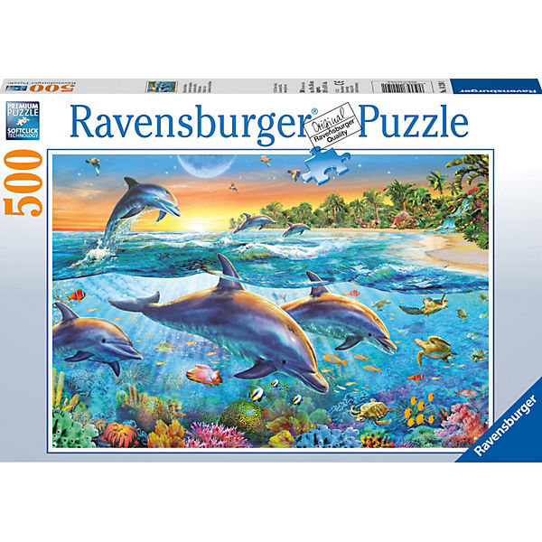 Puzzle 500 Teile, 49x36 cm, Bucht der Delfine, Ravensburger