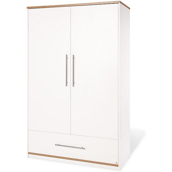 kleiderschrank tuula 2 t rig nussbaum wei pinolino mytoys. Black Bedroom Furniture Sets. Home Design Ideas