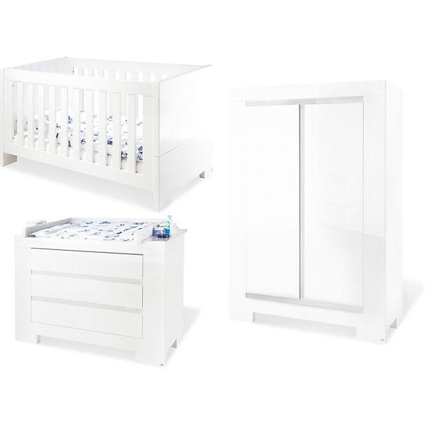 Komplett Kinderzimmer SKY groß, (Kinderbett, Wickelkommode breit ... | {Kinderzimmer weiß 36}