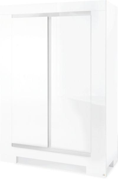 Kleiderschrank weiß hochglanz 2 türig  Kleiderschrank SKY, 2-türig, Weiß/Hochglanz, Pinolino | myToys