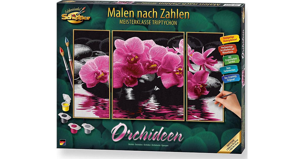 Malen nach Zahlen Orchideen (Triptychon)