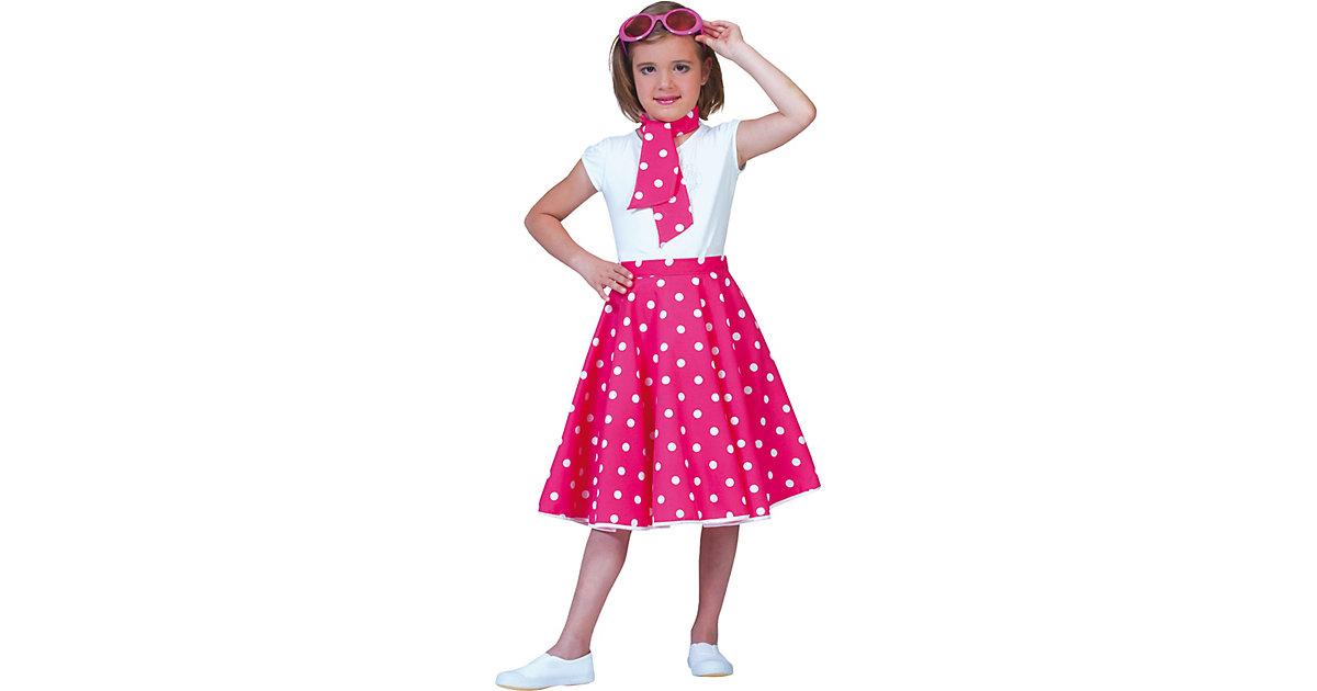 Kostüm Rock´n Roll Rock pink one size, 2-tlg. M...