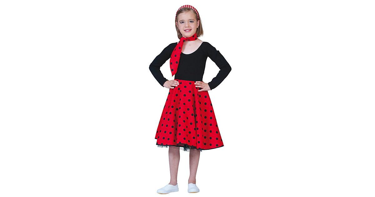 Kostüm Rock´n Roll Rock rot one size, 2-tlg. Mä...