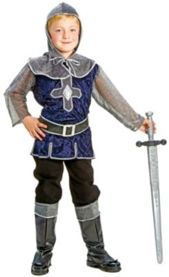 Kostüm blausilberner Ritter Gr. 152 Jungen Kinder