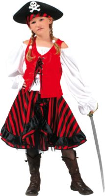 Kostüm Piratin, 3 tlg., Funny Fashion