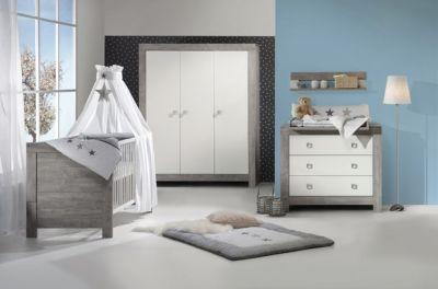 Komplett Kinderzimmer NORDIC DRIFTWOOD, 3 Tlg. (Kinderbett + US,  Wickelkommode Und ...