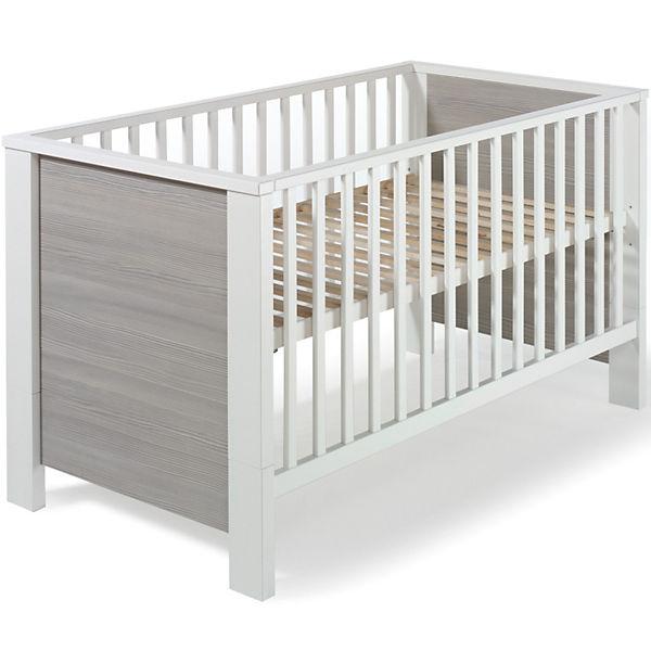 Kinderbett MILANO PINIE Pinie silberfarbig weiß 70 x 140 cm