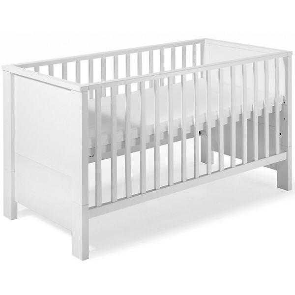 Kinderbett weiß 70x140  Kinderbett MILANO WEIß, weiß, 70 x 140 cm, Schardt | myToys