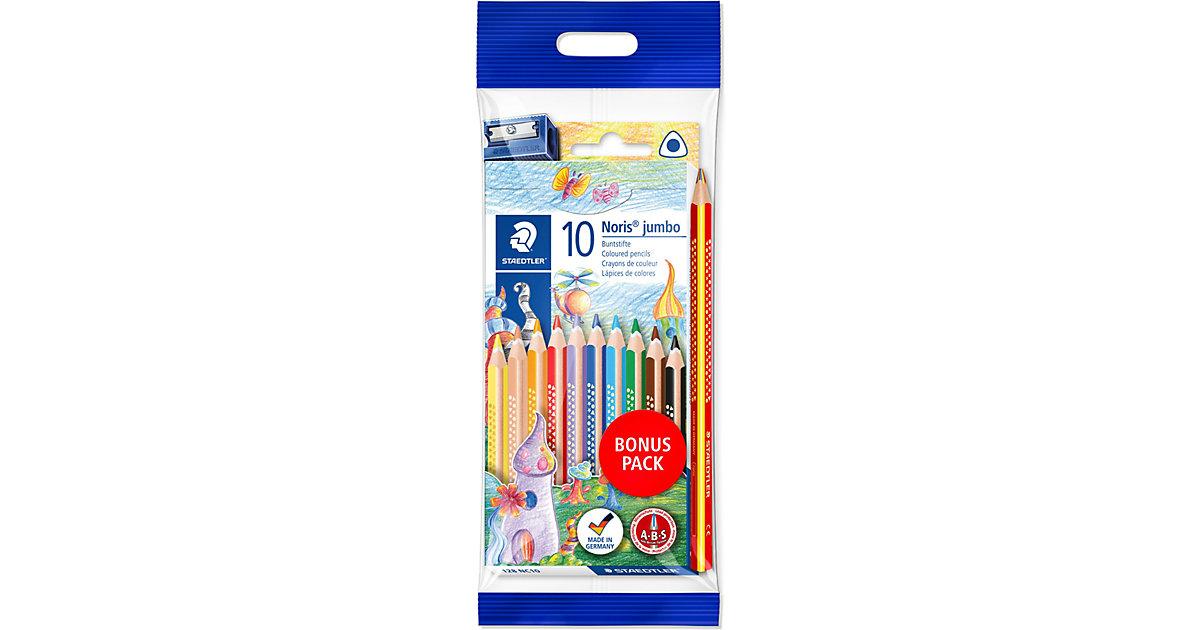 Noris Buntstifte, 10 Farben, inkl. Regenbogenstift