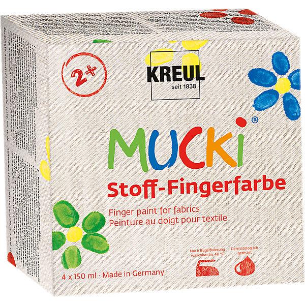 Fingerfarbe Weihnachten.Mucki Stoff Fingerfarbe 4 X 150 Ml Mucki