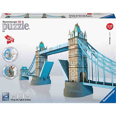 3D Gebäude Puzzle Tower Bridge - London 216 Teile