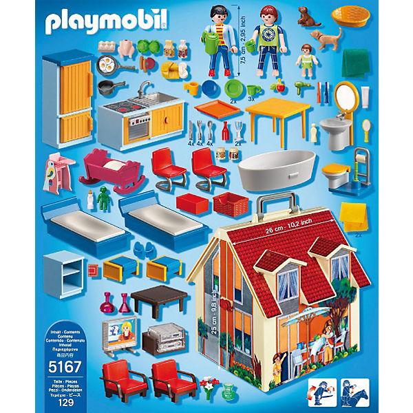 playmobil 5167 neues mitnehm puppenhaus aktionsartikel playmobil dollhouse mytoys. Black Bedroom Furniture Sets. Home Design Ideas