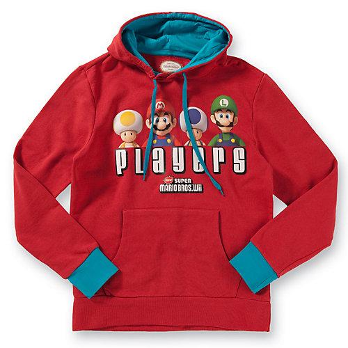 Nintendo Kapuzenpullover Super Mario Bros Players -M- rot | 08717973328964