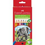 Цветные карандаши Faber-Castell Jumbo, 10 цветов