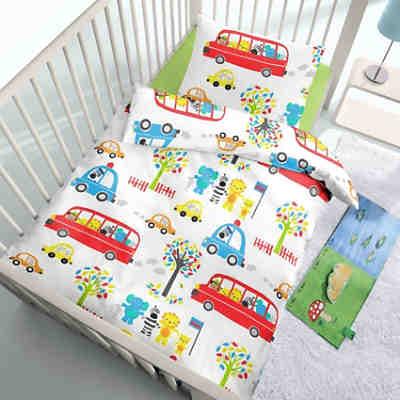 kinderbettw sche bus renforc 100 x 135 cm mytoys. Black Bedroom Furniture Sets. Home Design Ideas