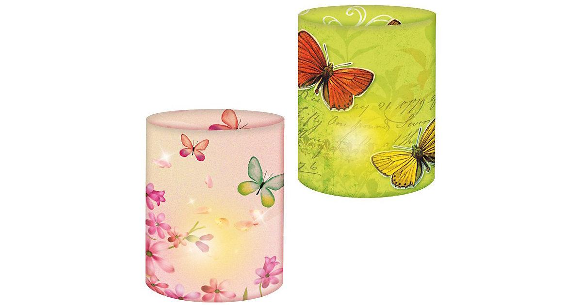 Mini-Tischlichter Schmetterlinge, 10 Stück