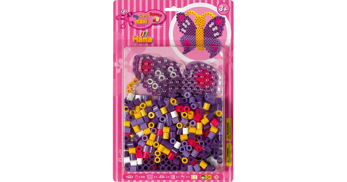 HAMA 8908 Blister Schmetterling, 250 maxi-Perlen & Zubehör