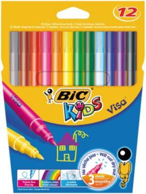 BIC Цветные фломастеры  Виза 880 12 цветов