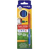 Высокопигментные цветные двусторонние карандаши, 6 шт=12 цветов.