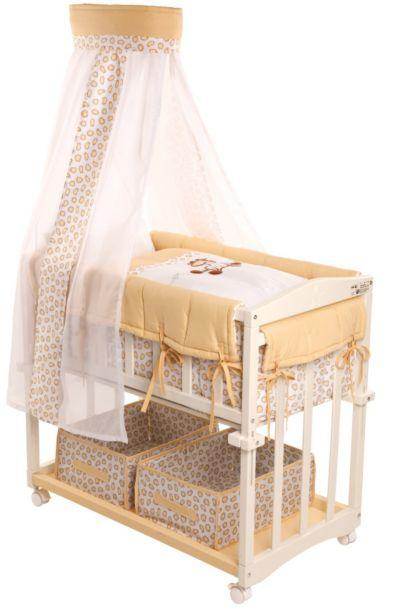 Beistell & Stubenbett mit Schlafsack Nestchen & Matratze