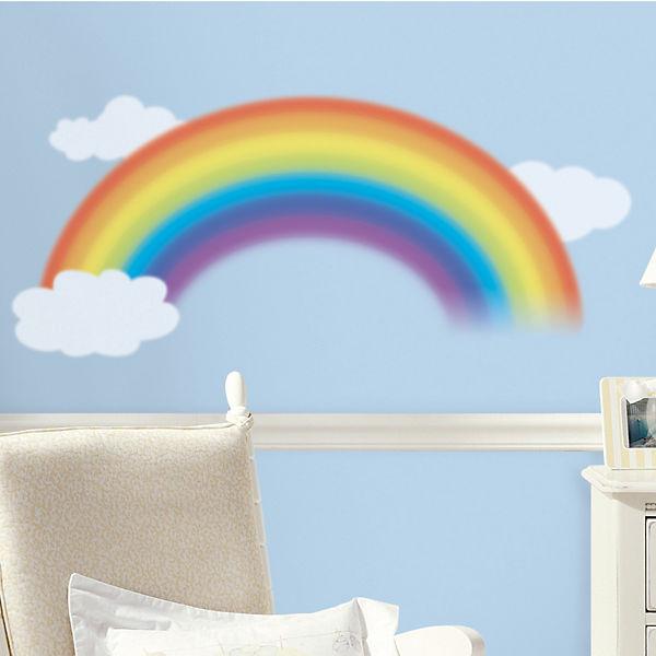 Wandsticker Regenbogen mit Wolken, 4-tlg., RoomMates