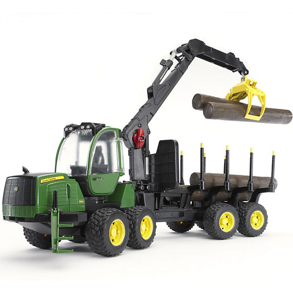 bruder 02133 john deere 1210e r ckezug m 4 baumst mmen. Black Bedroom Furniture Sets. Home Design Ideas
