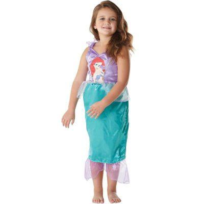 Kostüm Arielle Classic mit Aufdruck Gr. 104/116 Mädchen Kleinkinder