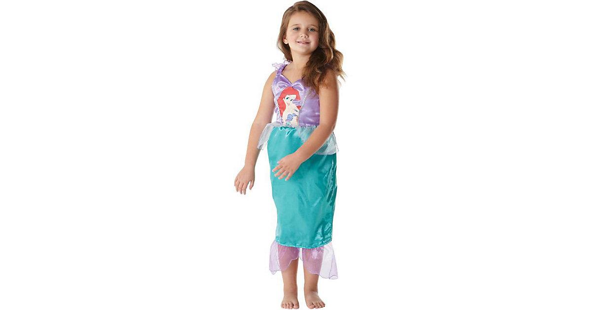 Kostüm Arielle Classic mit Aufdruck L (8-10J) türkis-kombi Gr. 128/140 Mädchen Kinder