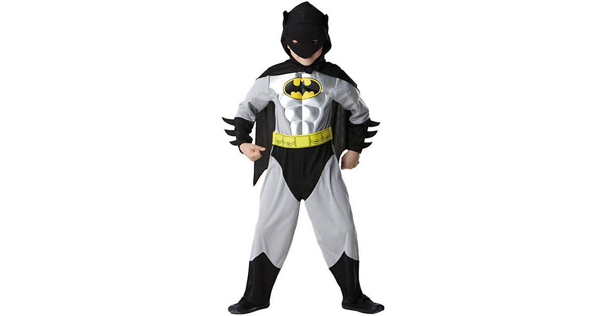 Kostüm Batman Metallic schwarz/grau Gr. 116/122 Jungen Kinder