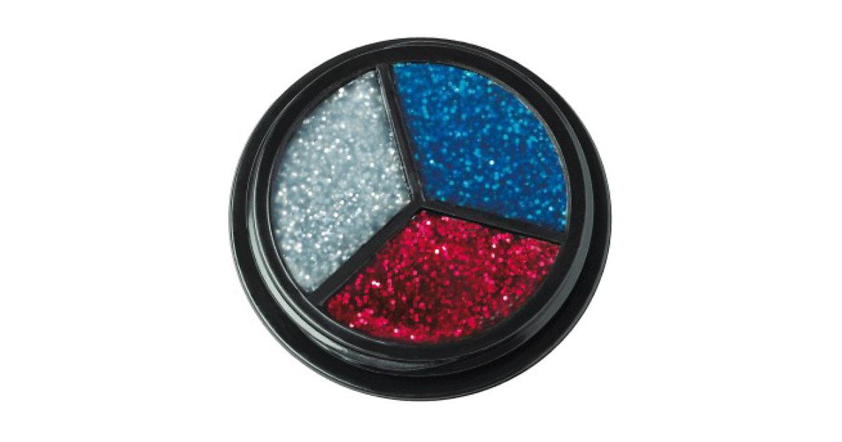 Trio Glitter silber-rot-blau