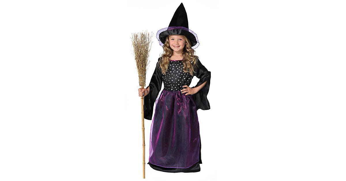 Kostüm Sternenhexchen schwarz Gr. 140 Mädchen Kinder