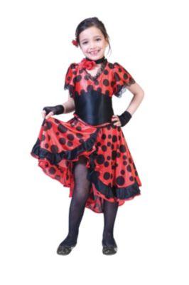 Kostüm Spanierin Evita, mit Halsband Gr. 140 Mädchen Kinder
