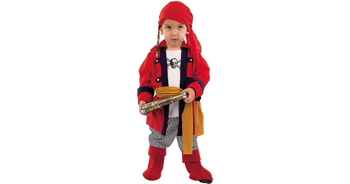 Kostüm Freibeuter Pirat, 4-tlg. rot Gr. 104/110 Jungen Kleinkinder