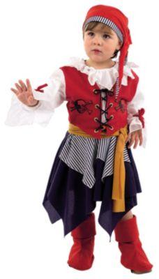 Kostüm Freibeuter Piratin Gr. 80/86 Mädchen Baby