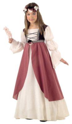 Kostüm Clarisa Mittelalter Gr. 116/128 Mädchen Kinder