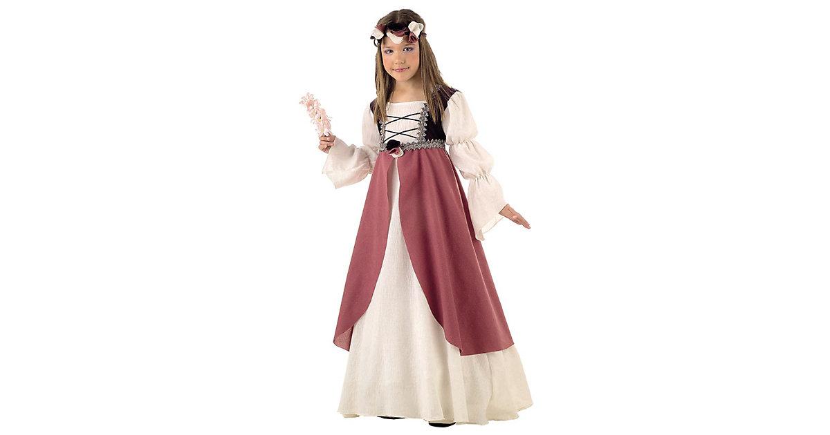 Kostüm Clarisa Mittelalter beige/rosa Gr. 116/128 Mädchen Kinder