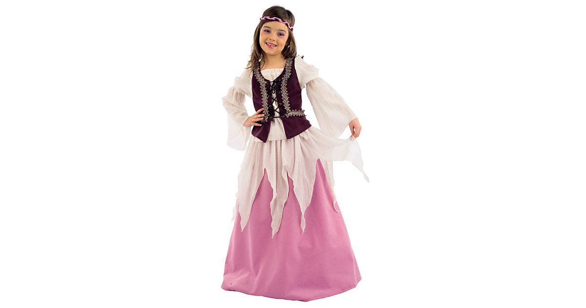 Kostüm Mittelalterliche Julia beige/rosa Gr. 104/116 Mädchen Kleinkinder