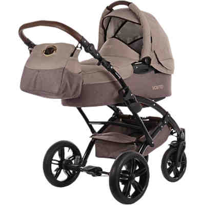 Kombi Kinderwagen Voletto Happy Colour mit Wickeltasche, beige-braun