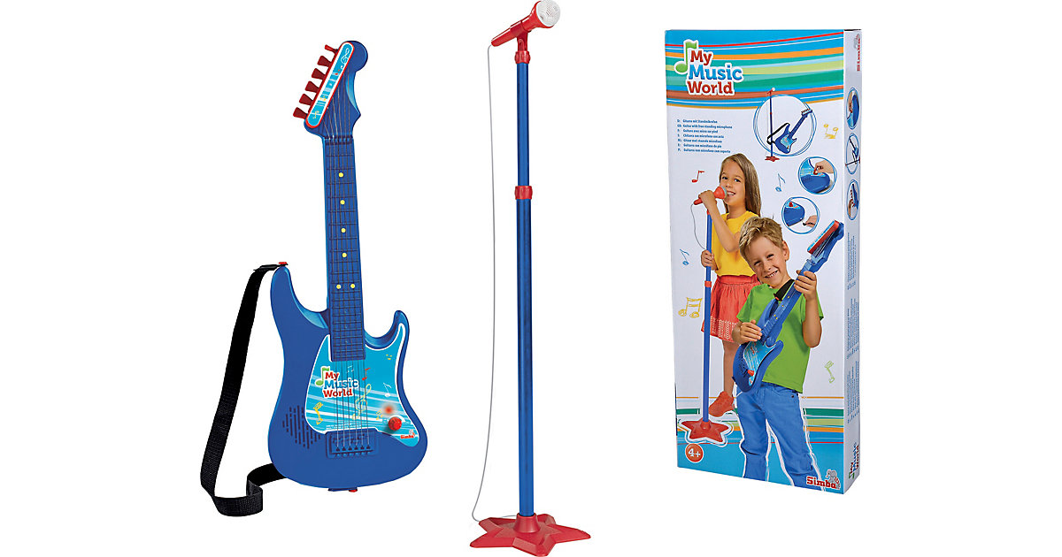 Gitarre mit Standmikrofon