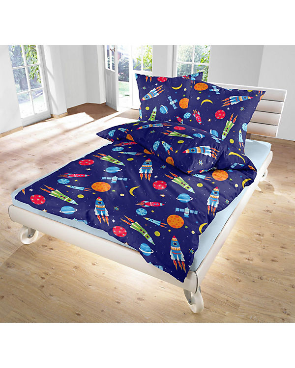 Kinderbettwäsche Super Space Linon 135 X 200 Cm Mytoys