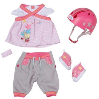 BABY born® Puppenkleidung Safety Set mit Helm, 43 cm