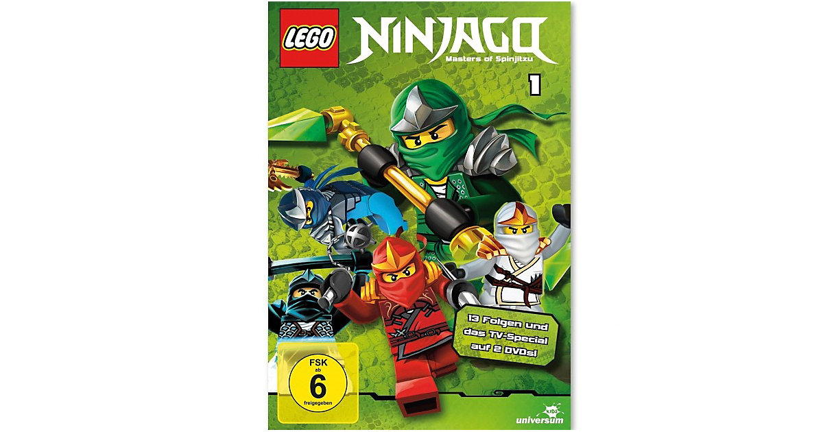 DVD LEGO Ninjago Staffel 1 (2 DVDs) Hörbuch