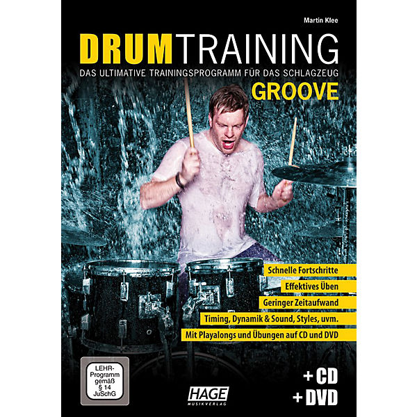 Drum Training Groove, mit Audio-CD + DVD