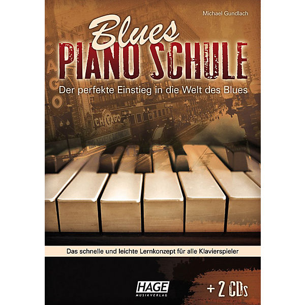 Blues Piano Schule, mit 2 Audio-CDs