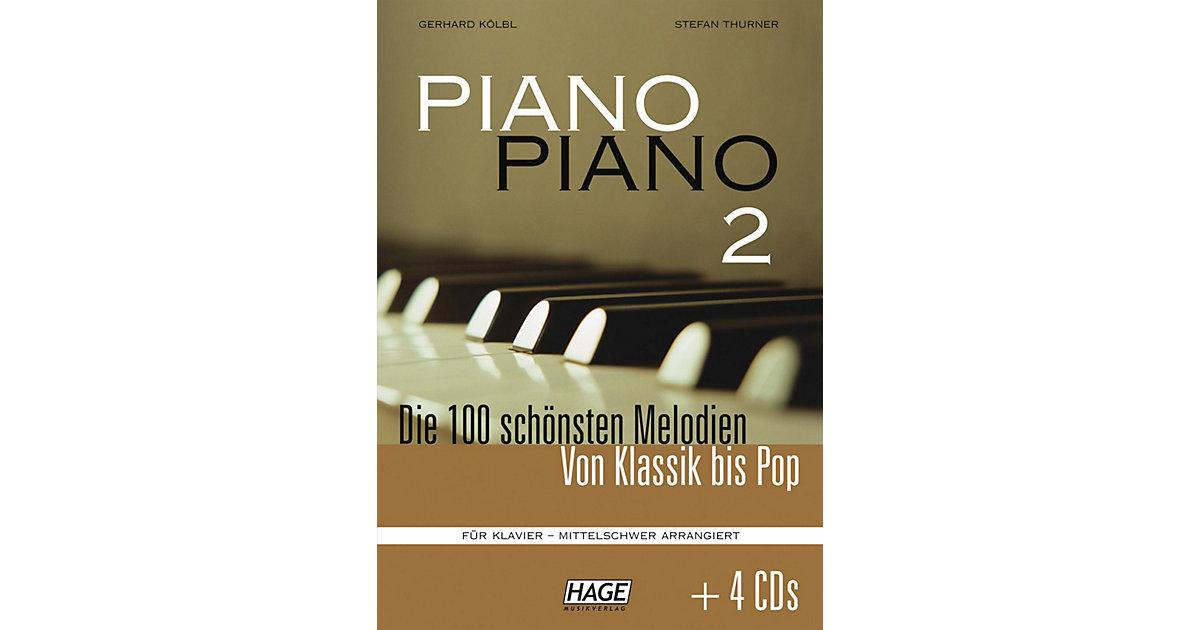 Piano Piano 2, mittelschwer arrangiert, mit 4 A...